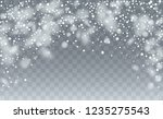 realistic snowflakes background.... | Shutterstock .eps vector #1235275543