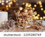 closeup christmas balls for... | Shutterstock . vector #1235280769