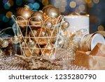 closeup christmas balls for... | Shutterstock . vector #1235280790