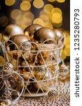 closeup christmas balls for... | Shutterstock . vector #1235280793