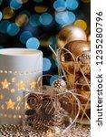 closeup christmas balls for... | Shutterstock . vector #1235280796