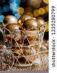 closeup christmas balls for... | Shutterstock . vector #1235280799