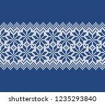 festive norway sweater fairisle ... | Shutterstock .eps vector #1235293840