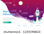 website page templates with... | Shutterstock .eps vector #1235298823