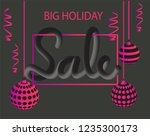big holiday sale banner vector. ... | Shutterstock .eps vector #1235300173