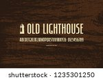 stock vector sans serif narrow... | Shutterstock .eps vector #1235301250