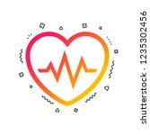 heartbeat sign icon. cardiogram ... | Shutterstock .eps vector #1235302456