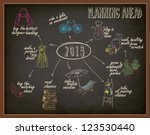 planning ahead   plans and... | Shutterstock .eps vector #123530440