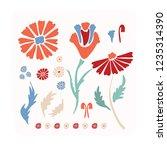 flower vectro elements... | Shutterstock .eps vector #1235314390