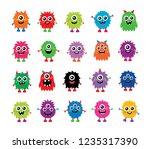 cute monster cartoon vector....   Shutterstock .eps vector #1235317390