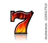 slot machine blazing seven... | Shutterstock .eps vector #1235317513