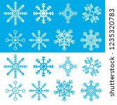 christmas snowflakes collection  | Shutterstock .eps vector #1235320783