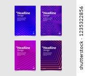 beautiful geometric gradient... | Shutterstock .eps vector #1235322856