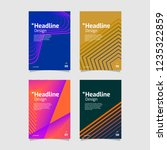 beautiful geometric gradient... | Shutterstock .eps vector #1235322859