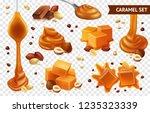realistic caramel chocolate nut ... | Shutterstock .eps vector #1235323339