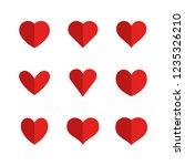 heart icons  symbols of love | Shutterstock .eps vector #1235326210