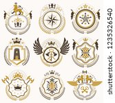 collection of vector heraldic... | Shutterstock .eps vector #1235326540