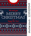ugly sweater christmas party... | Shutterstock .eps vector #1235329549