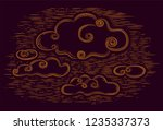 dark background with drawing... | Shutterstock .eps vector #1235337373