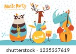 christmas music party poster.... | Shutterstock .eps vector #1235337619