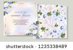 vector banners set with summer... | Shutterstock .eps vector #1235338489