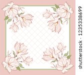 card  bandana print  kerchief... | Shutterstock .eps vector #1235338699