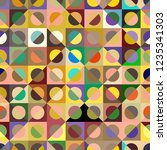 seamless pattern with abstract... | Shutterstock .eps vector #1235341303
