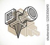 engineering three dimensional... | Shutterstock .eps vector #1235350690