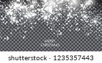 snow. design element. vector... | Shutterstock .eps vector #1235357443