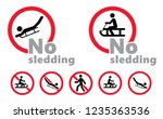 no sledding sleigh sledge... | Shutterstock .eps vector #1235363536