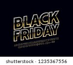 vector bright sign black friday....   Shutterstock .eps vector #1235367556