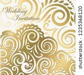 golden  swirls border on... | Shutterstock .eps vector #1235368120