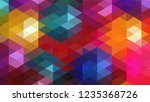 geometric design  mosaic ... | Shutterstock .eps vector #1235368726
