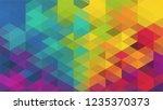 geometric design  mosaic ... | Shutterstock .eps vector #1235370373