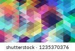 geometric design  mosaic ... | Shutterstock .eps vector #1235370376