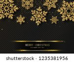 black merry christmas and happy ... | Shutterstock .eps vector #1235381956