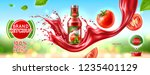 packaging of tomato ketchup ... | Shutterstock .eps vector #1235401129