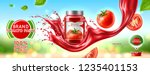 glass jar with tomato paste ... | Shutterstock .eps vector #1235401153