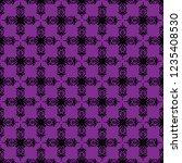 seamless decorative vector... | Shutterstock .eps vector #1235408530