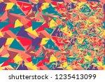 vector abstract geometric... | Shutterstock .eps vector #1235413099