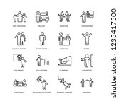 set of 16 activity and hobbies... | Shutterstock .eps vector #1235417500