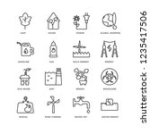 set of 16 ecology linear icons... | Shutterstock .eps vector #1235417506