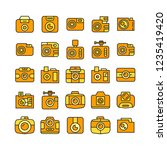 camera icons set | Shutterstock .eps vector #1235419420