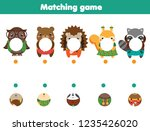 matching educational game.... | Shutterstock .eps vector #1235426020