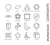 set of 16 geometry linear icons ... | Shutterstock .eps vector #1235426470