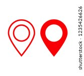 red maps pin. location map icon.... | Shutterstock .eps vector #1235426626