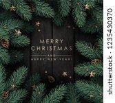 dark wooden background with... | Shutterstock .eps vector #1235430370