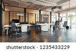 modern office interior design....   Shutterstock . vector #1235433229