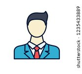 businessman filled related icon | Shutterstock . vector #1235433889
