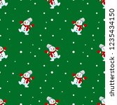 seamless pattern of christmas... | Shutterstock .eps vector #1235434150